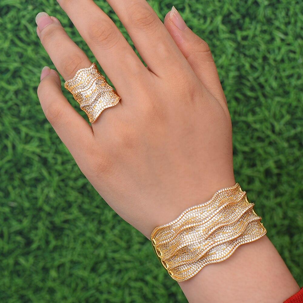 GODKI Luxury Wide Waves Nigeria Bangle Ring Set Jewelry Sets For Women Wedding Cubic Zircon Crystal CZ Dubai Bridal Jewelry SetsGODKI Luxury Wide Waves Nigeria Bangle Ring Set Jewelry Sets For Women Wedding Cubic Zircon Crystal CZ Dubai Bridal Jewelry Sets