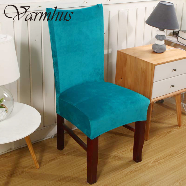 Varmhus Universal Fox Pile Fabric Stretch Chair Cover Elastic Seat Covers For Banquet Home Decoration Slipcover