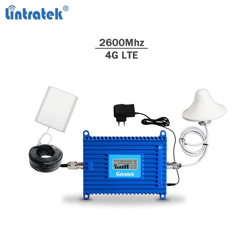 Lintratek 4G celular signal repeater LTE 2600Mhz cellphone signal booster 4G 2600 amplifier AGC LTE mobile