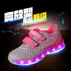 2016-new-children-s-LED-rechargeable-LED-light-wholesale-luminescent-boys-net-cloth-breathable-girls-casual.jpg_200x200