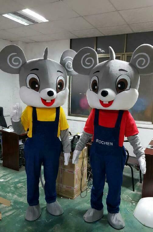 Мышь талисмана Косплэй Вечерние игры платье наряд для рекламы в стиле «Хеллоуин» для взрослых куклы характер уличные украшения Продажа Оде