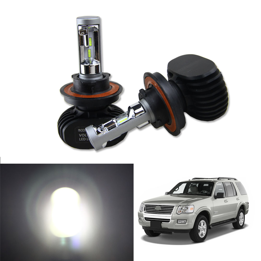 50W 8000LM High Power LED Headlight Kit Hi Lo Beam Bulbs For 2006-2010 Ford Explorer White Car High Low Headlamp