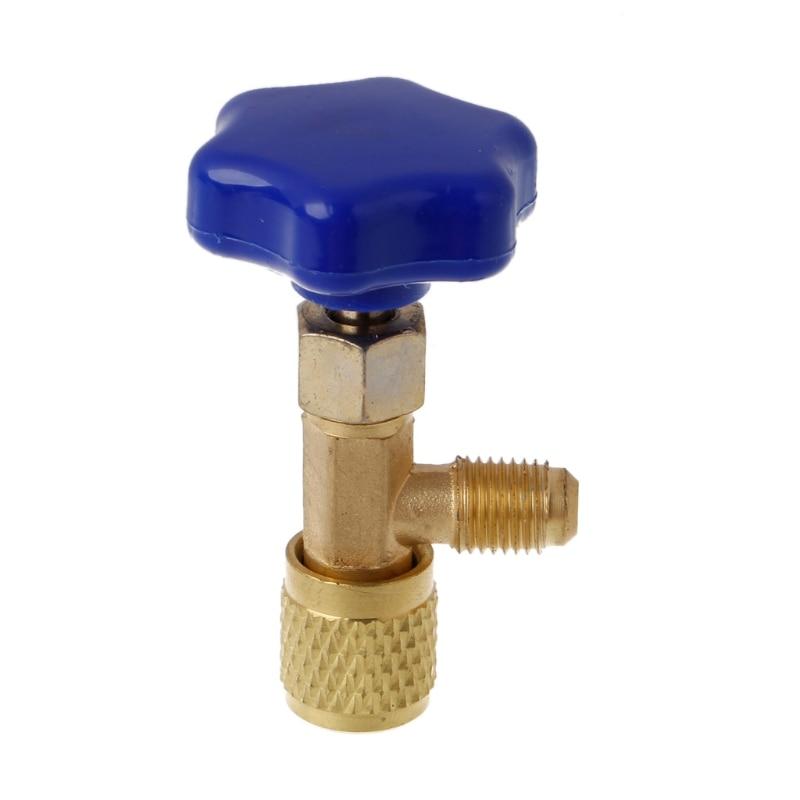 1/4 SAE Авто AC может кран-букса открывалка для бутылок для R22 R134a R410A газа хладагента