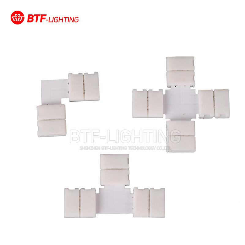 10pcs~1000pcs 8mm /10mm 2PIN corner T/L/X shape solderless connector For 3528/5050/5630 single color led strip No soldering 5pcs led strip connector 2pin 8mm 10mm l t x shape quick splitter right angle free welding connector for single color led strip