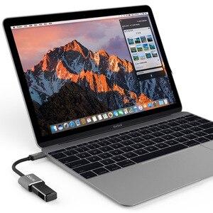 Image 2 - TUTUO USB C erkek USB A 3.0 kadın OTG adaptör alüminyum alaşımlı tip c macbook için hub Pro/S8/Xiaomi /Huawei Mate 10 (gri)