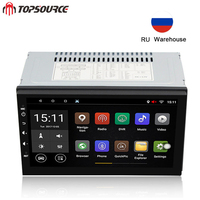 TOPSOURCE Universal 7 2 din Car DVD Player Radio Rds GPS Navigation WIFI Bluetooth Android Quad Core 1G/16G Central Multimidia