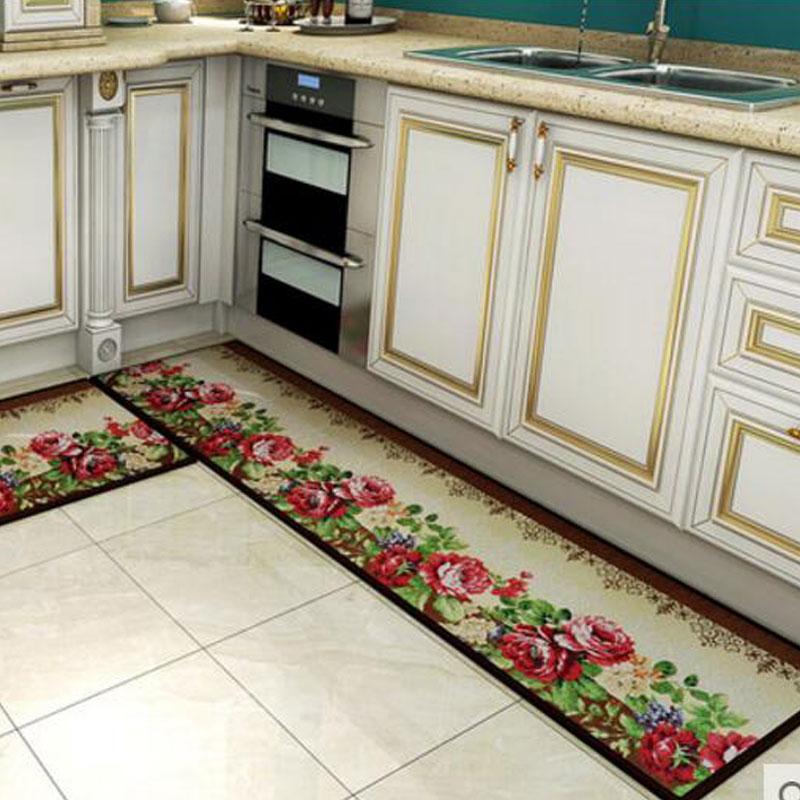 US $29.44 36% di SCONTO|2 pz/set Assorbimento di Acqua Non slip Tappetini  Ingresso Pavimento Striscia Zerbino Tavolino Area Tappeti Per Cucina Bagno  ...