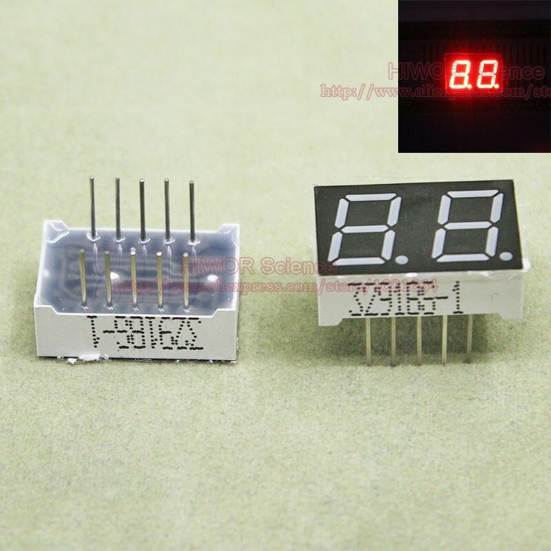 (10pcs/lot) 10 Pins 3921BR 0.39 Inch 2 Digits Bits 7 Segment Red LED Display Common Anode Digital Display