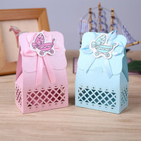 12Pcs Candy Box Baby Carriage Design Laser Baby Birthday Party Supplies