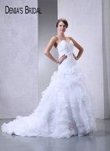 2017 Real Photos Sweetheart A-Line Wedding Dresses Pleats Ruffles Floor-Length Chapel Train Long Bridal Gowns