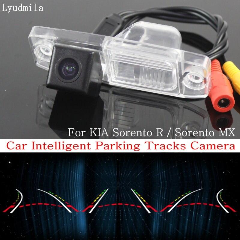 Lyudmila Car Intelligent Parking Tracks Camera FOR KIA Sorento R / Sorento MX 2010~2015 HD CCD Back up Reverse Rear View Camera цена 2017