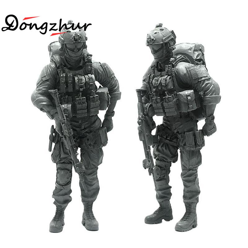 Handsome 1:35 Scale Model <font><b>Resin</b></font> Soldier Model For Kids Gift Toys Military Equipment Figures Kit Modern Soldiers <font><b>Accessory</b></font> image