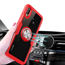 Luxury Car Holder Metal Ring Case On The For Huawei Mate 10 Pro P20 Shockproof 20 Soft Bumper
