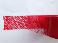 5pcs Free Shipping Self Adhesive Packing Tapes Security Boxes Cartons Package Shipping Mark VOID OPEN RED