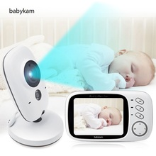 Baby Monitor 603 baba eletronica baby monitore Portugiesisch 3,2 inch LCD IR Nacht vision Intercom 8 Lullabies Temperatur monitor