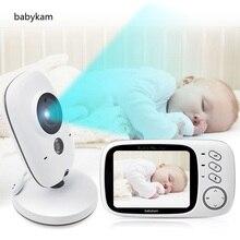 Baby Monitor 603 baba eletronica baby monitors Portuguese 3.2 inch LCD IR Night vision Intercom 8 Lullabies Temperature monitor