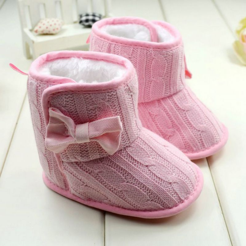 Baby-Girl-Knit-Bowknot-Faux-Fleece-Snow-Boot-Soft-Sole-Kids-Warm-Wool-Baby-Shoes-3-18M-2