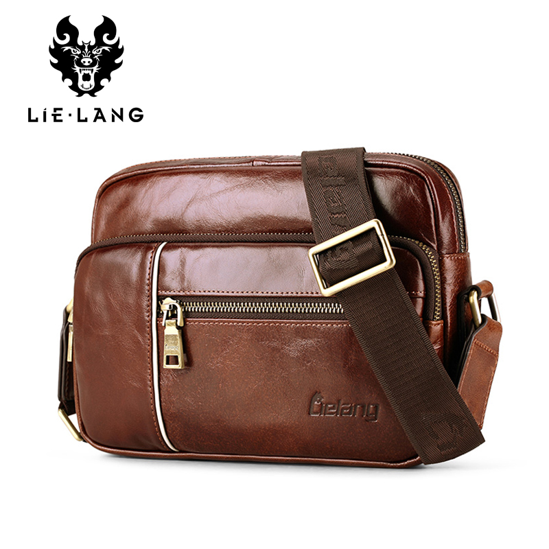 LIELANG Hot 2016 Genuine Leather Bags Men Cowside Small Shoulder Bag Men's Cowhide Messenger Crossbody For Men Casual Travel Bag добрый pulpy ананас манго с кусочками ананаса напиток сокосодержащий 0 45 л