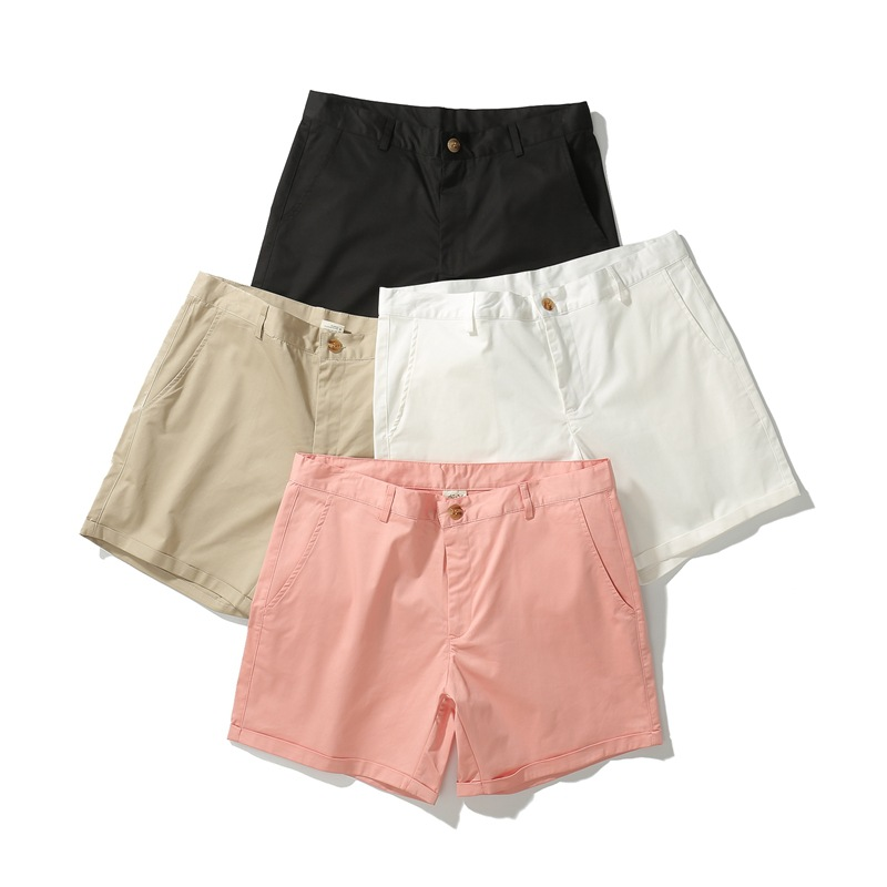 Image 5 - Men casual summer shorts pink white black Khaki green five colors-in Casual Shorts from Men's Clothing
