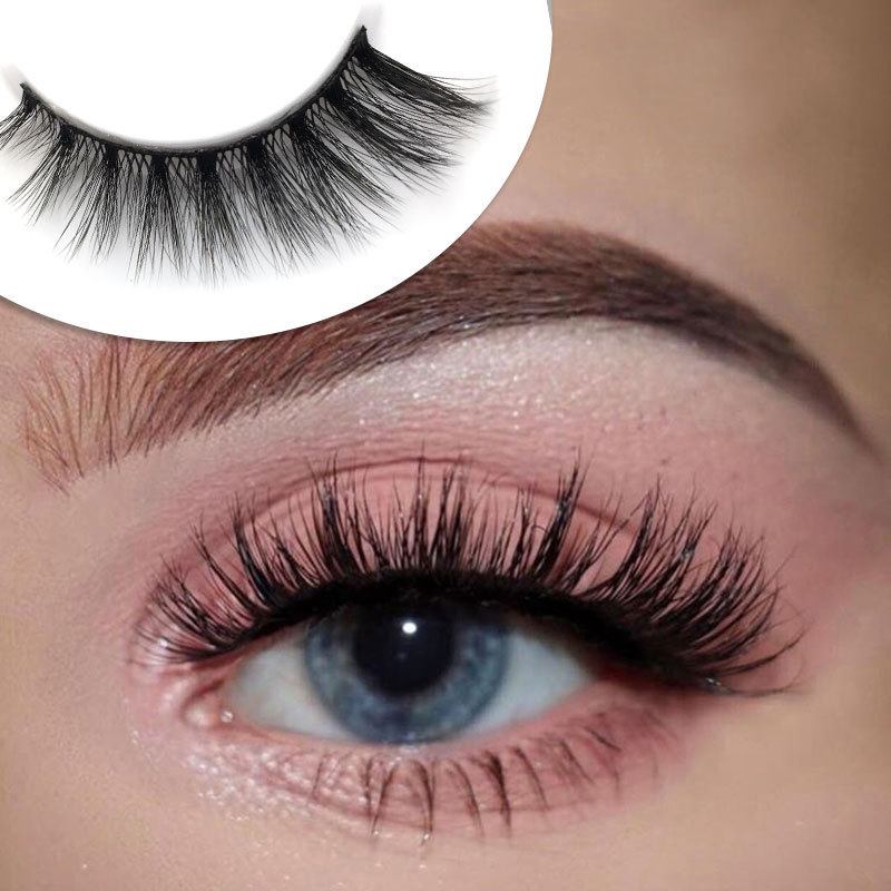 YOKPN Luxury Mink Hair Fake Lashes Natural Messy Volume False Eyelashes Beauty Makeup Eyelash Multilayer Thick False Eyelashes