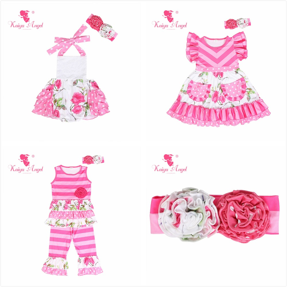 73ae45d9a08 Kaiya Angel Newborn Baby Girl Summer Autumn Winter Clothes Rose Flower With  Headband Rompers Birthday Wedding Party Outfits