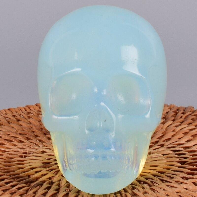 Hand Craft Opalite Skull 3
