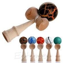 HBB, 1 unidad, juguete de seguridad para niños con patrón de grietas, Kendama de bambú, los mejores juguetes educativos de madera, juguete para regalo para niños