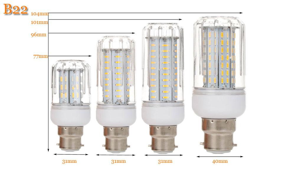 4014 SMD LED Corn Bulb B22 Brighter LED Lamp AC 220V Spot LED Bulb 12W 18W 21W 25W Lamparas LED Light Bulb Luz Candle Ampoule