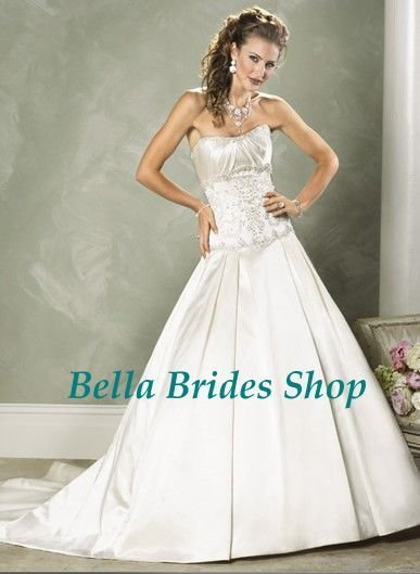 2011 Top Quality Hot Sale Cheap Strapless Wedding Dress Trim