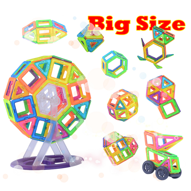 SuSenGo Big Size 89/102pcs Magnetic Building Blocks DIY Designer Kits With Ferris Wheel Car Model For Kids Birthday Toys Gift