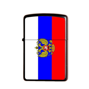 Image 5 - Gasoline Flint Lighter Metal Kerosene Oil Lighter Refillable Frosted Flag Series