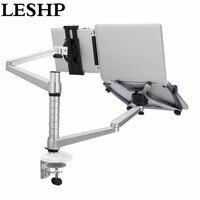 LESHP Lazy Tablet ноутбук двойной стенд регулируемая высота поворотный держатель для ноутбука в пределах 10 16 дюймов и планшетный ПК 7 10 дюймов