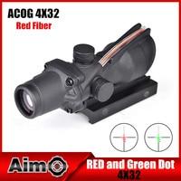Aim O Reddot Optics Riflescope ACOG 4X32 Disguise Fiber Scope 20mm For Airsoft Gun AO1004