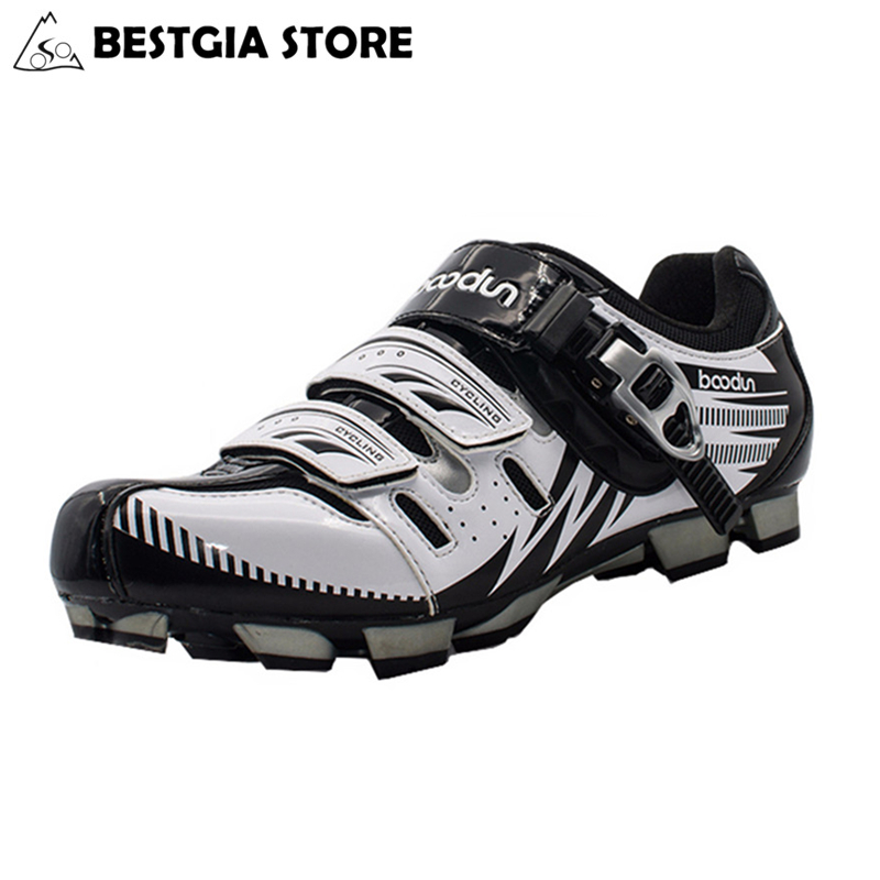 BOODUN Breathable Waterproof Road Mountain Bike Shoes Racing Bike MTB Cycling Shoes Mens Self Locking Athletic