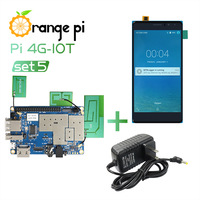 Orange Pi 4G-IOT Set5: Orange Pi 4G-IO + 5.5inch Black color TFT LCD Touch Screen + Power Supply