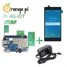 Orange Pi 4G IOT Set5: Orange Pi 4G IOT + 5.5 inch Black Color TFT LCD Touch Screen + Power Supply; 1G Cortex A53 8GB EMMC & BT
