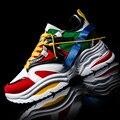 Venda quente unisex ao ar livre atlético sapatos masculinos esporte tênis casal mulher tênis de corrida respirável malha treinador sapatos de caminhada 35-48
