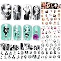 12 Unids/lote belleza Marilyn Monroe calcomanías de uñas de transferencia de agua nail art sticker decoración accesorios herramientas de manicura 8192