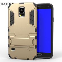 HATOLY Case For Samsung Galaxy S5 Cover TPU + Hard Plastic For Samsung Galaxy S5 Case I9600 G900F G900 for Samsung S5 Funda