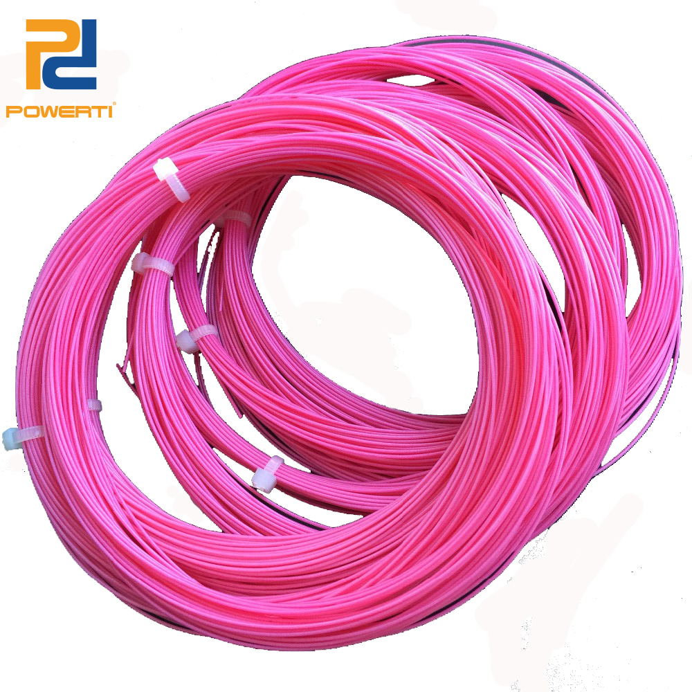 POWERTI 10pcs/lot Pink 0.70mm Badminton Racket String Sport 10m Outdoor Badminton Racquet Training String
