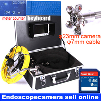 50m keyboard counter DVR Pipe Wall Sewer Inspection Camera System,Industrial Pipe car Video Inspection Endoscope Camera system