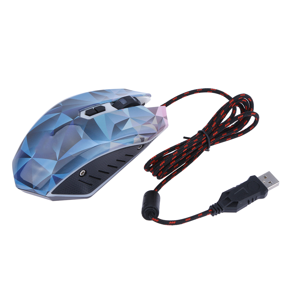 New Professional Ajustable 2400DPI 7 Button USB Optical Gaming Mouse Computer Mice Wired Mouse for PC Desktop High Quality sunsonny t m30 usb wired 6 button 600 1000 1600dpi adjustable led gaming mouse golden red