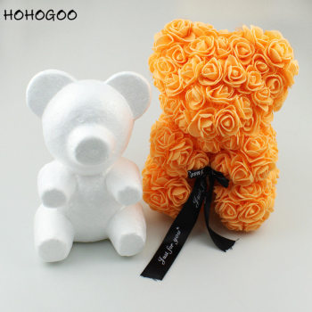 HOHOGOO 1pc 20CM Foam Bear Mold DIY Artificial Flowers Rose Gift Bear Mold Birthday Party Valentine's Day Send Girlfriend Gift
