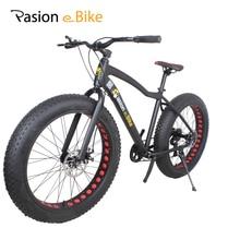 PASION E BIKE 7 speed Aluminium mountain bike white frame 26*4.0 fat tire bicycle bicicleta bikes