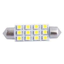 42mm 1W 150LM 6000K 12x3528 SMD White LED for Car Reading/License Plate/Door Lamp (DC12V, 10Pcs)