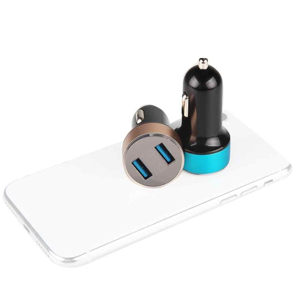 3.1A cargador de coche USB Dual con pantalla LED cargador de coche Universal para Xiaomi Samsung S8 iPhone 6 6s 7 8 Plus Tablet