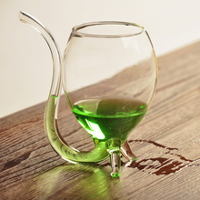16pcs/lot creative home glassware mini wine cup with straw 80ml shot glass