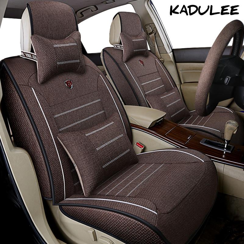 цена на KADULEE flax car seat cover for suzuki swift jimny ignis baleno sx4 wagon alto Auto accessories car-styling car seat protector