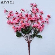 Artificial Silk Flower cherry bouquet Home Garden wedding Table DIY simulation Decorative Flowers accessorie