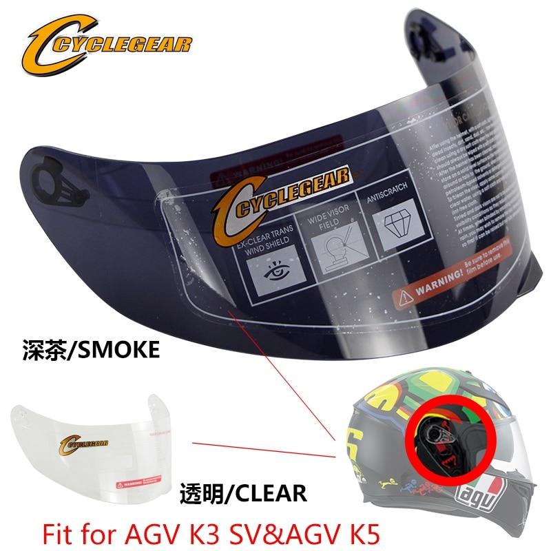 Ajuste de la cara del visor de la lente del casco del escudo del viento de la motocicleta para AGV K1 K3SV K5